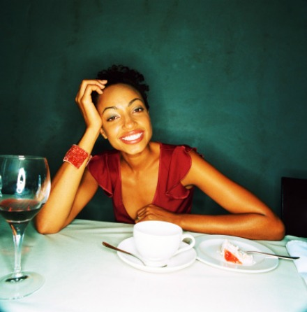 black-woman-dining-alone